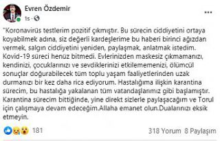 Torul Belediye Başkanı Özdemir Covid-19 olduğunu...