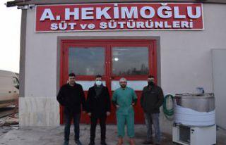 Kelkit TSO'dan süt ürünleri tesisine ziyaret