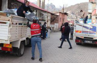 Gümüşhane'de 71 aileye yardım