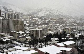 Gümüşhane'de kar yağışı