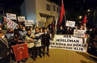 Gümüşhane caddelerinde 'Katil İsrail defol'...