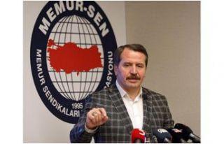 Memur-Sen Genel Başkanı Ali Yalçın Gümüşhane'ye...
