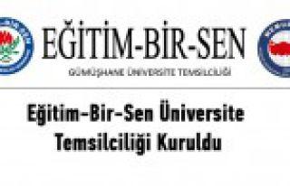 Eğitim-Bir-Sen Üniversite Temsilciliği Kuruldu