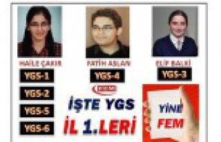 İşte YGS'nin Gümüşhane Şampiyonları