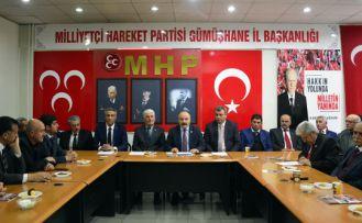 MHP Milletvekilleri Gümüşhane'de