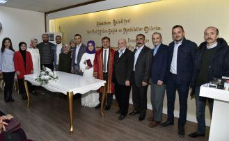 Belediye Başkanı Çimen, yeni dönemin ilk nikahını kıydı