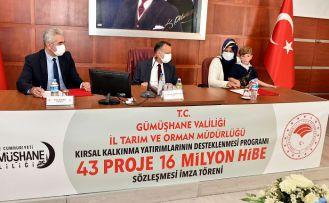 Gümüşhane'de 16 milyon hibe tutarlı projeler için imza töreni düzenlendi
