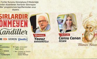 Yavuz Bahadıroğlu ve Cansu Canan Özgen Mimar Sinan'ı anlatacak