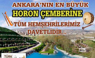 Ankara'nın en büyük horon çemberi 29 Eylül'de