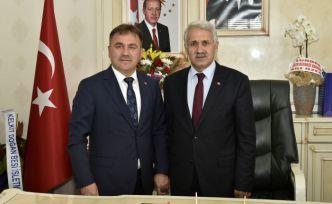 Başkan Çimen'den Belediye Başkanlarına tebrik ziyareti