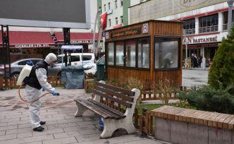 Gümüşhane Belediyesi dezenfeksiyona devam ediyor