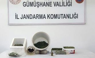 Gümüşhane'de Jandarma'dan uyuşturucu operasyonu