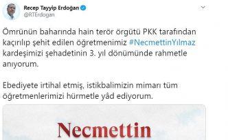 Cumhurbaşkanı Erdoğan Necmettin öğretmeni unutmadı