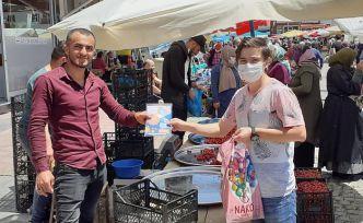 Kelkit'te AK Gençlik ücretsiz maske dağıttı