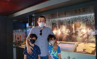 Yüzlerce kişi mobil Çanakkale müzesini gezdi