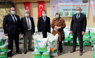Gümüşhane'de üreticilere 1,1 milyon liralık tohum desteği