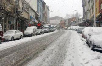 Kar yağışı Kürtün'de etkili oldu