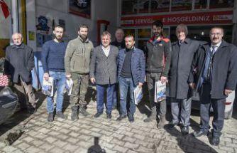 Başkan Çimen sanayi esnafını ziyaret etti