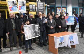 Gümüşhane'de Mısır'daki 9 idama tepki