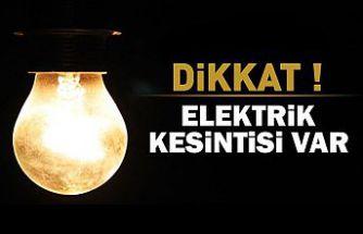 Dikkat ! Hafta sonu aralıklı elektrik kesintisi var