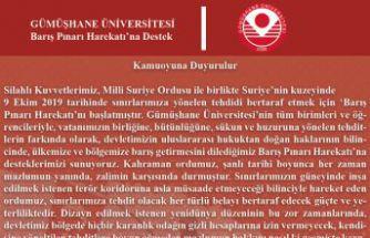 Gümüşhane Üniversitesi Senatosundan 'Barış Pınarı Harekatı'na destek