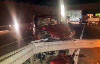 Kürtün kavşağında kaza: 1 yaralı