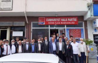 CHP Köse ilçe binası hizmete açıldı