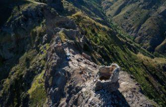 Canca kalesinden tarih fışkırıyor
