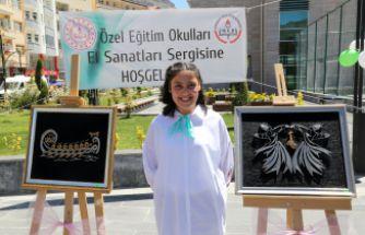 Gümüşhane'de özel öğrencilerin özel sergisi açıldı