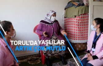 Torul'da yaşlılar artık çok mutlu