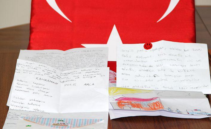 Çocuklardan polis amcalarına mektup