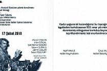 Kelkit'in kurtuluş programı iptal edildi