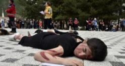 Üniversite öğrencilerinden nefes kesen tatbikat