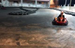 Gümüşhane'nin Go-Kart pisti test aşamasında