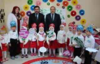 4-6 yaş Kur'an kursunda tac giyme merasimi düzenlendi