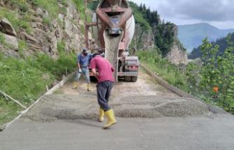 Gümüşhane'de en uzak köyün yolu da betonla kaplandı