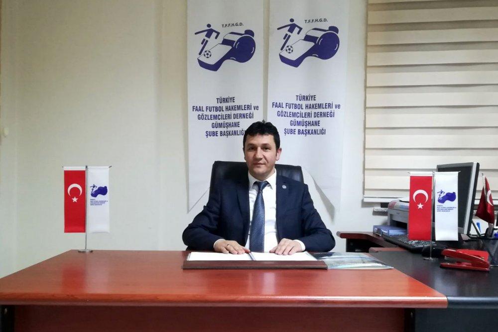 Türkiye Faal Futbol Hakemleri ve Gözlemcileri Derneği (TFFHGD) Gümüşhane Şube Başkanı Murat Kömürcü
