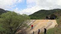 Gümüşhane'nin Pamukkalesinde 'Ayazma' şenliği yapıldı