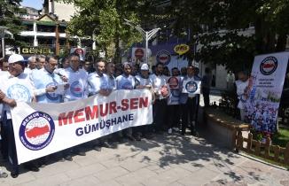 Gümüşhane Memur-Sen'den 'Emeğe saygı, adalete davet' açıklaması