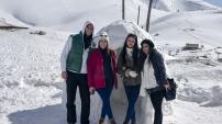 Yüzlerce üniversite öğrencisi Zigana dağında stres attı