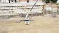 Pazaryeri inşaatında göçük anı amatör kamerada