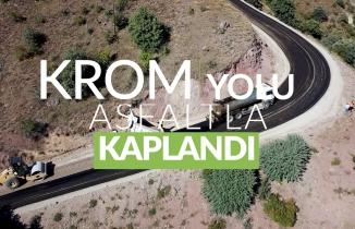 Krom Antik Kentine ulaşımı sağlayan yol asfaltlandı