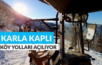 Gümüşhane'de kar nedeniyle kapanan köy yolları ulaşıma açılıyor