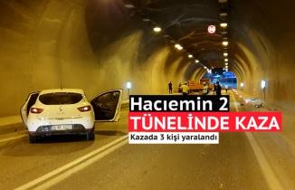 Otomobille kamyonet tünel içinde çarpıştı: 3 yaralı