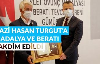 Gümüşhane'de Gazi Hasan Turgut'a devlet övünç madalyası verildi