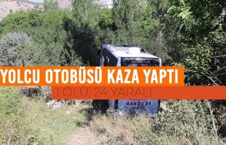 Gümüşhane'de yolcu otobüsü kaza yaptı: 1 ölü, 24 yaralı