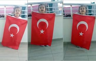 3 yaşında İstiklal Marşını ezberledi