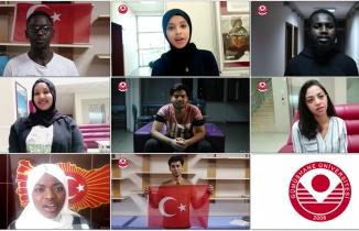 GÜ'nün yabancı uyruklu öğrencilerden 'Evde kal' mesajı