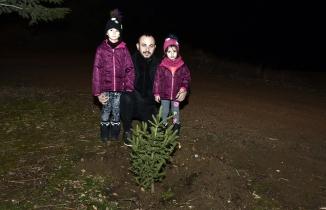 Yılbaşında kesilen ağaçlar için yılın son dakikalarında fidan dikti