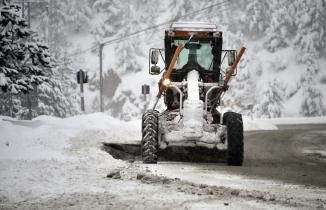 Zigana dağında kar yağışı